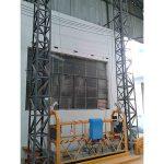 10m powered aluminum rope suspended platformo zlp1000 unuopa fazo 2 * 2.2kw